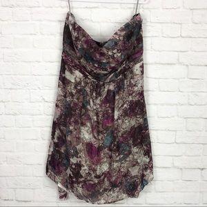 Torrid Strapless Floral Watercolor Petticoat Dress